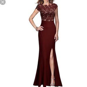 Rephyllis retro lace maxi formal dress